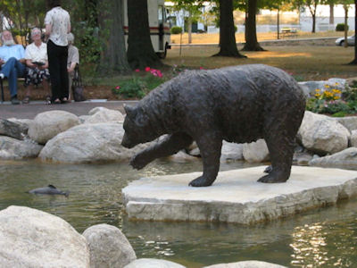 Bronze Bear and Trout